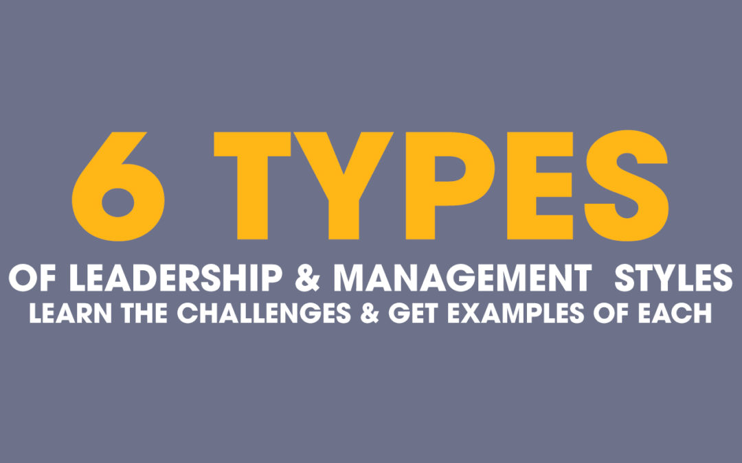 6 Types of Leadership Styles – Management Challenges & Examples